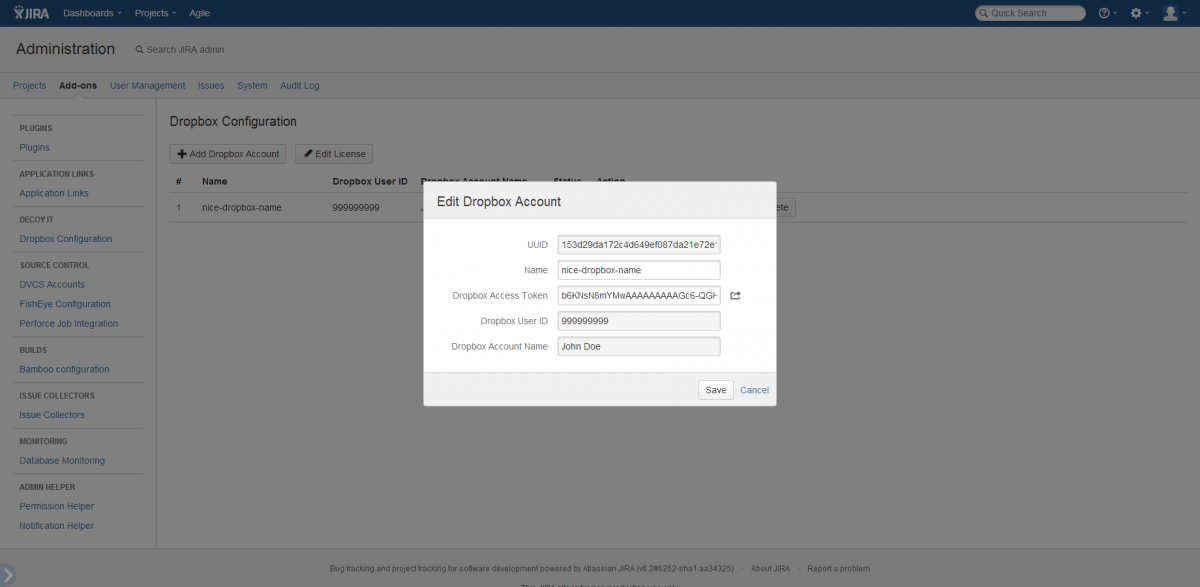 Edit Account Dialog