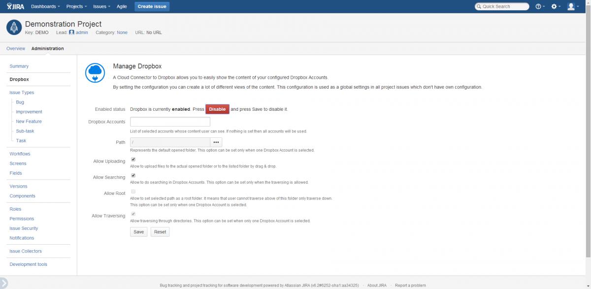 Project Dropbox Configuration